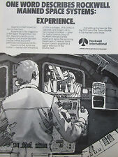 7/1980 PUB ROCKWELL MANNED SPACE SYSTEMS SPACE SHUTTLE NASA ORIGINAL AD