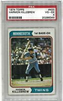 1974 Topps #400 Harmon Killebrew Graded 4.0 VG-EX (062319-88)