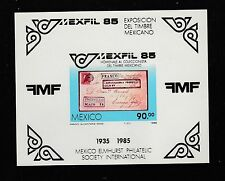 1985 MEXICO Mexafil Imperf s/s Sc1385