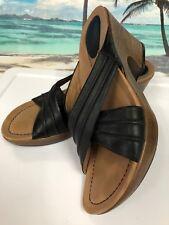 Dansko Women's Brazilian Dress BLACK LEATHER Open Toe Heel Sandal Size EU 41/10
