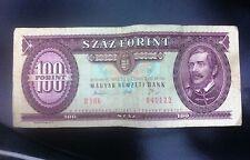 Banconota da 100 fiorini ungheresi (100 FORINT) Ungheria pre Euro