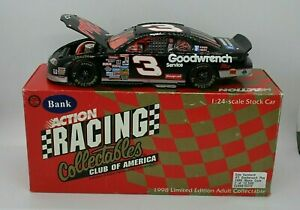 Dale Earnhardt #3 Goodwrench Plus 1998 Monte Carlo 1:24 Stock Car RCCA Bank New