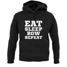Eat Sleep Row Repeat Unisex Hoodie - Rower - Rowing - Sports - Canoe - Kayak