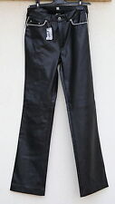 SACK'S Womens Black Soft Leather Look PVC Boot Cut Pants Trousers Size 1