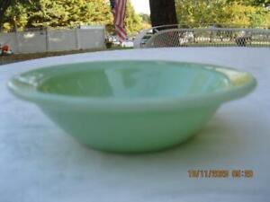 "Vintage Fire King Jadeite Oven Ware 6 1/4"" Flanged Rimmed Soup/Cereal Bowl Heavy"