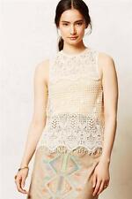 New Anthropologie Lani Crochet Tank Sz L Size Large 12 14 Top by Dolce Vita Lace