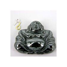 1 X Hematite Pendant BUDDHA Jewellery making pendant Necklace HE3