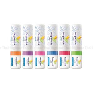 6 PCS Peppermint field inhaler menthol oil relief nasal congestion cold dizzy