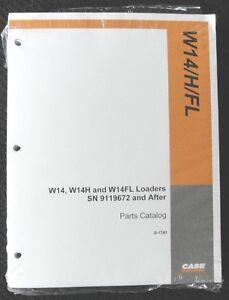 ORIGINAL CASE W14 W14H W14FL WHEEL LOADER TRACTOR PARTS CATALOG MANUAL NICE 1