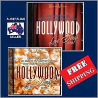 HOLLYWOOD LOVE SONGS 2 MUSIC CD's,Romantic Love Songs on SOLO PIANO,Movie Hits