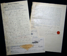1882 Letter Signed Richard Dudgeon Hydraulics Inventor + Business Ephemera Ny Ct