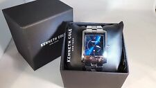 Kenneth Cole New York Men's Stainless Blue Face Watch