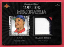 2020 Bob Gibson President's Choice Solitaire 1/1 Game Used Jersey - Cardinals