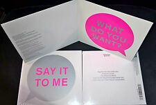 CD Si MCD NEU Pet Shop Boys SAY IT TO ME REMIXES Inner Sanctum Dead can Dance ++