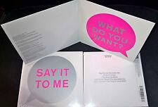 CD MCD NEU Pet Shop Boys SAY IT TO ME Inner Sanctum Dead can Dance Petshopboys