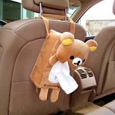NEW Car accessories Rilakkuma San-X Cute Plush Car Tissue Box Cover S