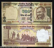 INDIA 500 RUPEES SYMBOL 2011-2016 GANDHI UNC DANDI MARCH STATUE MONEY BANK NOTE