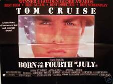 BORN ON THE 4TH OF JULY 1989 ORIGINAL QUAD POSTER TOM CRUISE OLIVER STONE