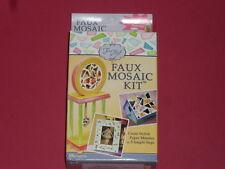Kit fausse mosaïque, créer des mosaïques de papier en 3 étapes.