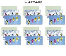 Ski Winter Luggage Bag Travel Tag All Weather Lot of6 Flip Lenticular #LT04-209#
