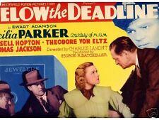 Title Card 1936 BELOW THE DEADLINE Cecilia Parker crime