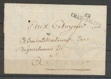 1792-1812 Lettre Marque Linéaire 52 Chat-Salins MEURTHE(52) X1702