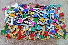 Lot  of 100+ Misc  COLOR  COLE  Key Blanks    HOUSE, CAR, etc . UN-CUT.