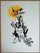 "Pierre Salsi. Dessin original "" Don Quichotte """