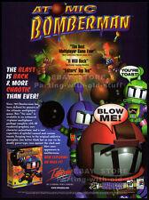 ATOMIC BOMBERMAN__Original 1997 print AD / PC game promo__Interplay / Hudson