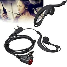 New 2 Pin Headset Mic Earpiece Earphone for Two Way Radio Security Walkie Talkie