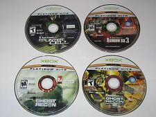 Xbox - Lot Of 4 Tom Clancy Games - Rainbow Six, Ghost Recon, Splinter Disc Only