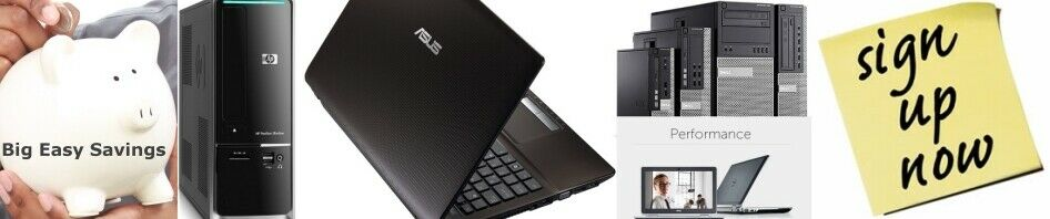 Big Easy Savings PC Laptops