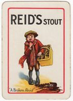 Playing Cards 1 Single Card Old Wide REID'S STOUT Brewery Advertising Beer BOY 2