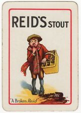 Playing Cards 1 Swap Card Vintage Wide REID'S STOUT Brewery Beer RED JACKET BOY