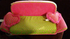 NEW Only Hearts Club Sleeper Sofa - fold out bed pink green polka dots pillows