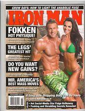IronMan Bodybuilding Muscle Fitness Magazine Brandon+Amber Dawn Fokken 11-14