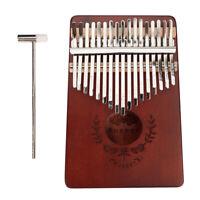 17 Key Kalimba Thumb Piano Mahagoni Mbira für Anfänger oder Profis