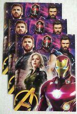 Marvel Avengers Infinity War 2-pocket portfolio folders Lot Of 3 school supply