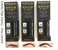 Makeup Revolution Brow Tint Semi-Permanent Eyebrow Tattoo Gel Peel Off Fast Post
