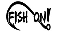 Fishing Hook Vinyl Decal, Truck Decal, fishing lure