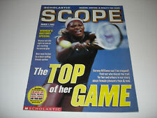 SERENA WILLIAMS tennis star on cover Scholastic Scope magazine March 7 2003 rare
