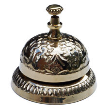 Antique Vintage Solid Brass Hotel Counter Desk Bell Ring Service Call Bells