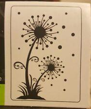 Darice Embossing Folder DANDYLION Dandelion FLOWERS Grass Dots   A2 1218-50