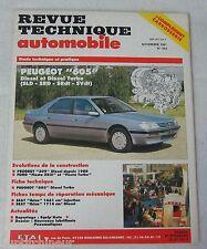 Revue technique automobile RTA 533 1991 Peugeot 605 Diesel & turbo SLD SRD SRdt