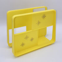 VTG Mid Century A Royal Product Yellow Napkin Holder Classic Gold Star Burst