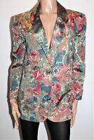 Roulla Patinou Brand Retro Floral Long Sleeve Jacket Size S/M LIKE NEW  #SJ20