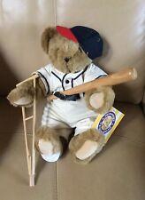 Vintage 1998 Vermont Teddy Bear - Baseball