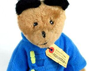 """Vintage Paddington Bear Plush 14"""" Doll Toy 1975 Peru England Eden Toys Tag Blue"""