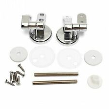 Alloy Replacement Toilet Seat Hinges Mountings Set Chrome With Fittings Screw T9