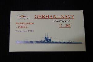 HP Models 1:700  WL  U-Boot  Typ VIIC   U-201 -1940/43-